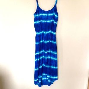 Women's Blue Tie-Die Summer Dress Size Small